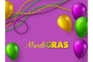 Mardi Gras carnival design.