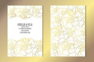Golden Marigold Card Template