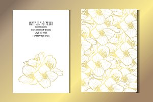 Golden Jasmine Card Template