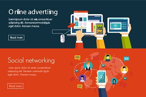 Online advertising, social network