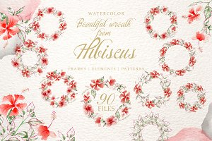 Hibiscus Watercolor png