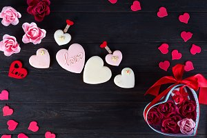 Sweets on Valentine's Day. Cookies