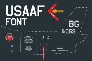 USAAF Air Force Font