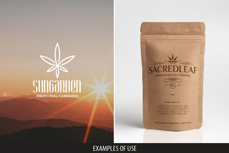 9 Modern Vintage Cannabis Logos V
