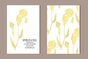 Golden Iris Card Template