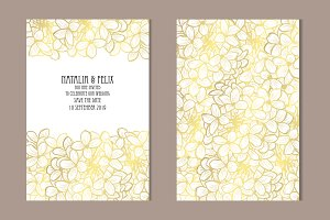 Golden Lilac Card Template