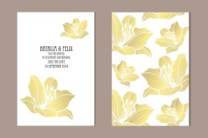 Golden Lily Card Template