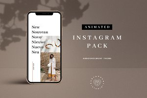 Animated Announcement Instagram Pack