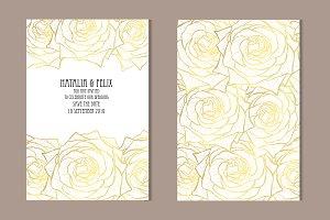Golden Rose Card Template