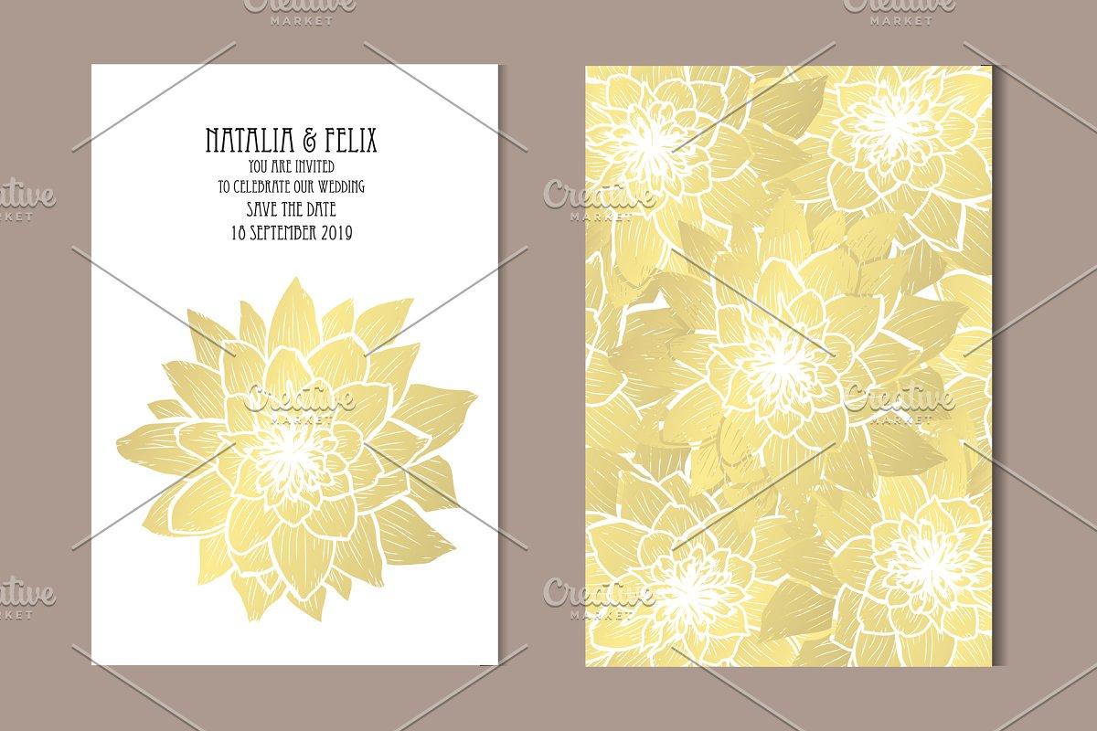 Golden Lotus Card Template