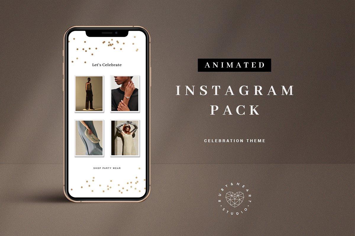 Animated Celebration Instagram Pack