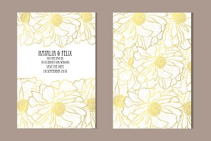 Golden Poppy Card Template
