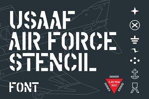 USAAF Air Force Stencil Font