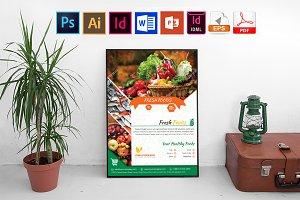 Poster | Fresh Food Shop Vol-03