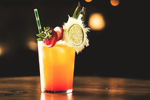 Summer orange cocktail