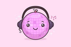 Disco Ball Mascot