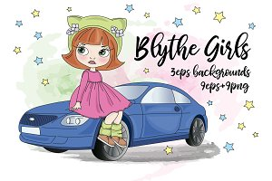 BLYTHE GIRLS Doll Illustration