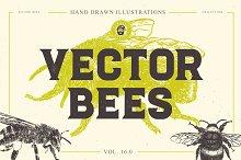 VECTOR BEES HAND DRAWN BUNDLE V.16.0