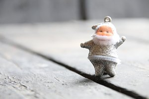 Silver Santa Claus, christmas card