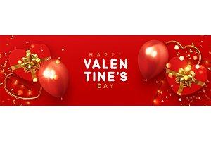 Valentines Day banner.