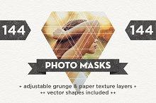 144 Photo Masks + Vector Shapes
