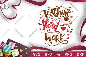 Valentine's Day svg Teacher