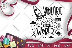 Valentine's Day svg Space Craft