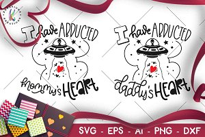 Valentine's Day svg Alien UFO