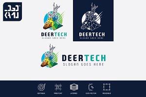 Deer Tech Logo Template