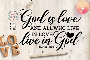 God is love Cut File