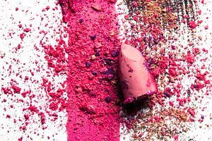crushed make-up products - beauty