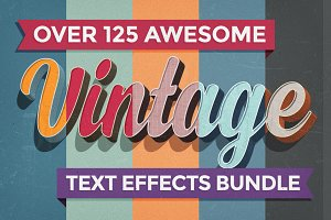 80% OFF Vintage Text Effects Bundle