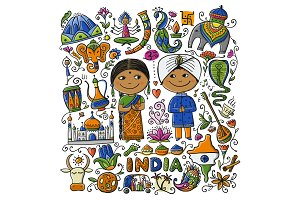 Indian lifestyle. Sketch for your