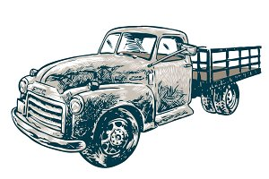 Vintage Truck Illustration