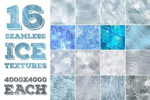 16 seamless ice textures. High res.