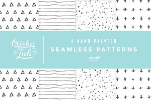 Hand Painted Seamless Patterns