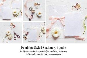 Feminine Stationery Mockup Bundle