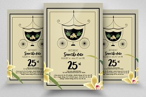 Save The Date Golden Invite Template
