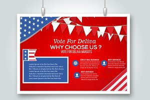 Elections Flyer Card Template