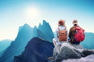 Adventure and travel in the mountain