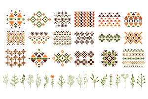 Ethnic pattern set