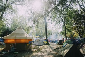Festival camping in nature