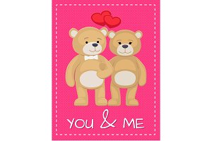 Cute Bear Animals Family Male and