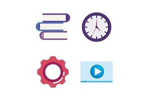 marketing seo set icons