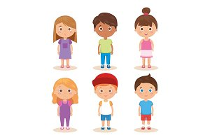group of little kids characters