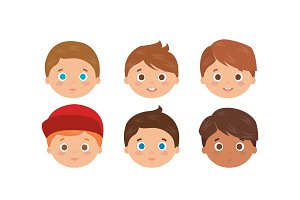 group of little boys heads