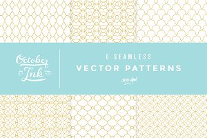 Elegant Chic Geo Tile Vector Pattern