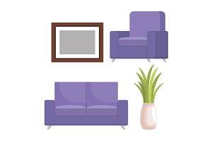 living room scene icons