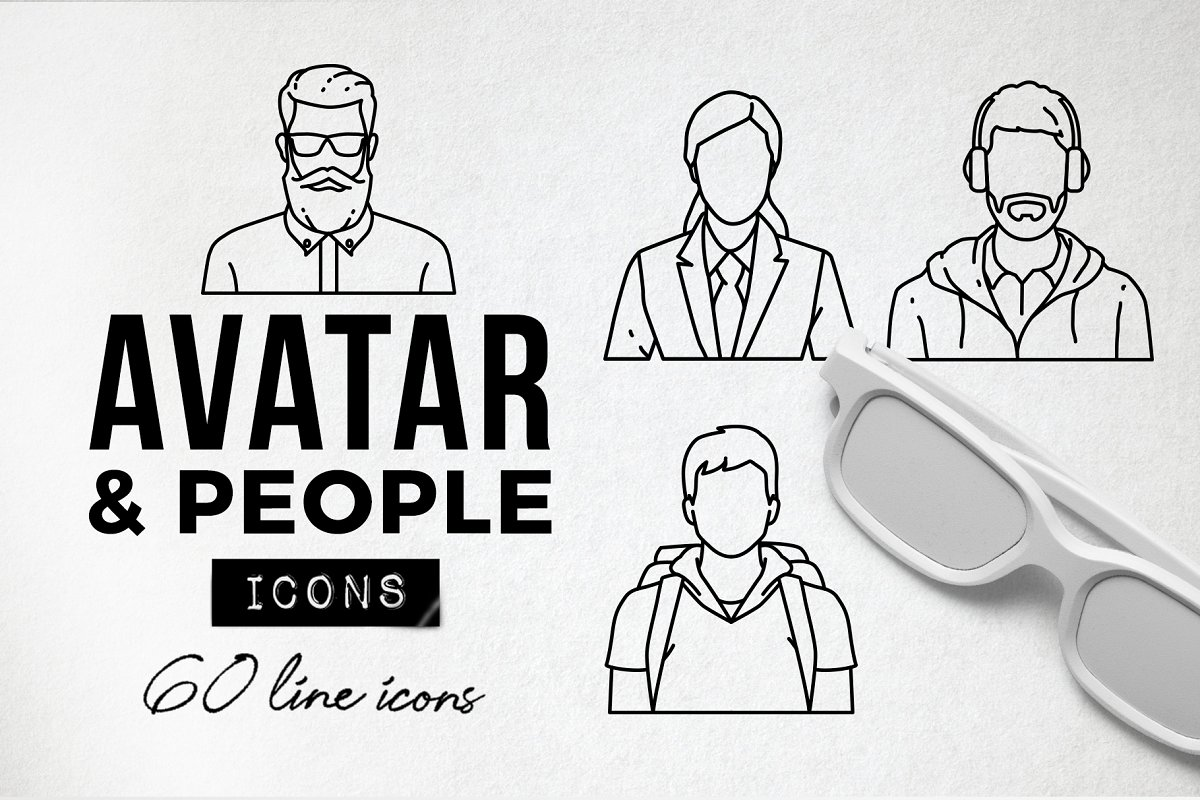 60 Profile Avatar Icons - People