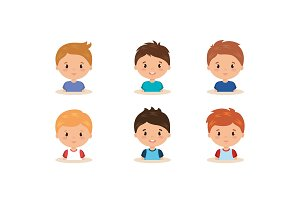 cute and little boys group